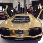 Gold Plated Lamborghini Aventador LP700-4