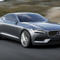 volvo concept coupe at speed